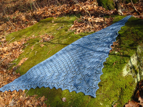 shawl on rock