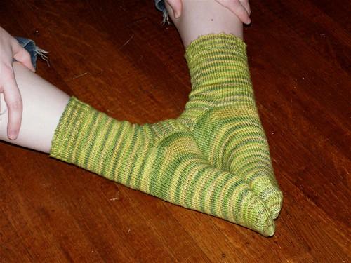 Lemongrass Socks, done!