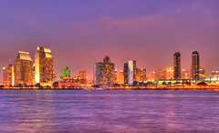 San Diego Night Skyline HDR
