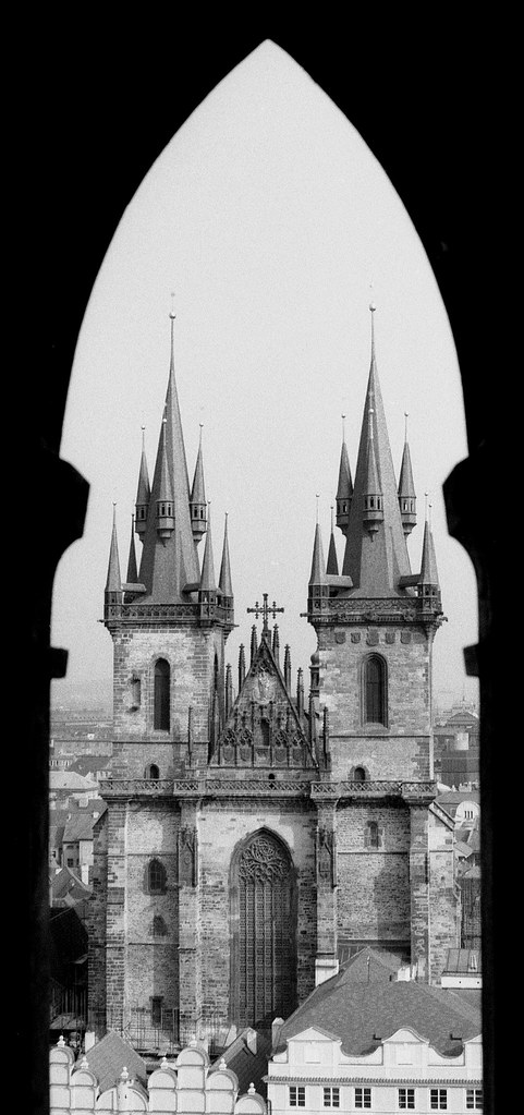 Týn Cathedral Silhouette