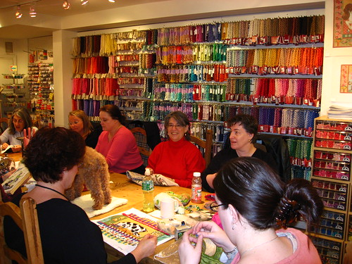 The friendly stitching ladies at Annie & Company