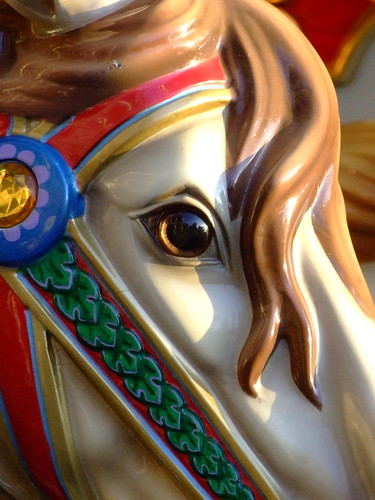 Carousel horse close up