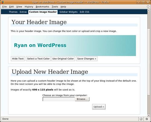 Custom Image Header