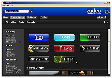 azureus screenshot