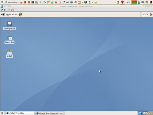 Xubuntu Feisty dektop in VirtualBox