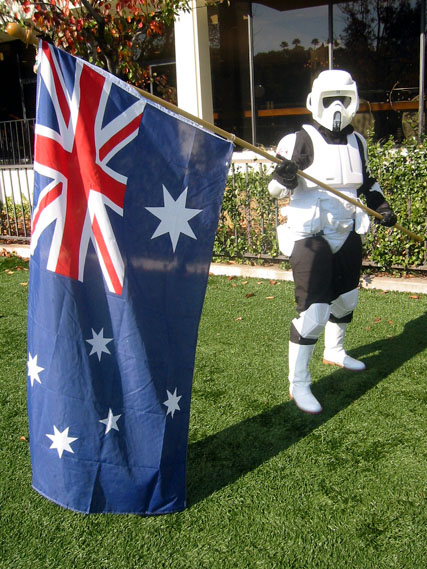 Australian Storm Trooper with National Flag