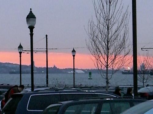 New York Harbor Sunset, Fairway Parking Lot