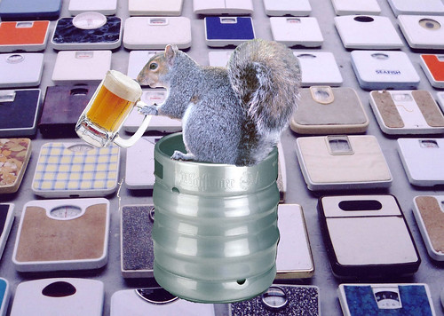 squirrel with beer