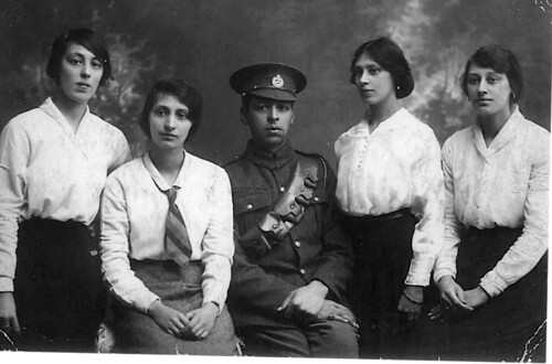 G-Aunts Cora, Annie, Ethel, Emily, G Uncle George Johnson circa 1915