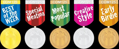 Collection of Blog Medals for COM125