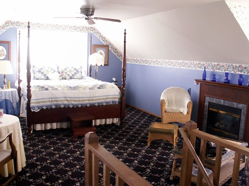View of our bed-Crow's nest
