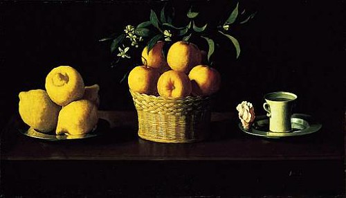 Francisco de Zurbaran, Still Life with Lemons, Oranges and a Rose