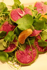 Cress, Orange, and Radish Salad, undressed