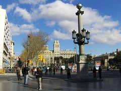 Placa de Catalunya, Barcelona, Spain