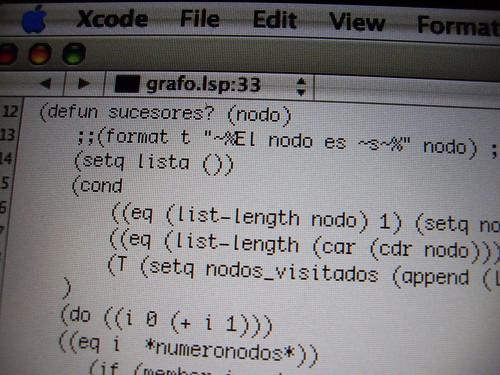 Trozo de código LISP