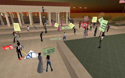 Second Life Protest