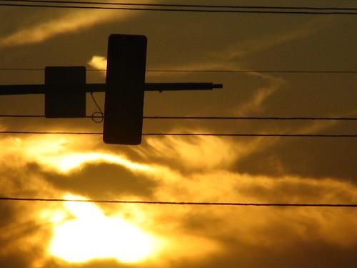 Sunset at a Stop Light