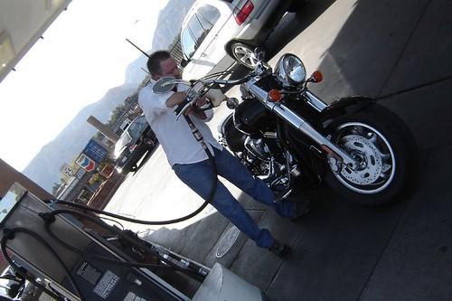 Calvin filling up