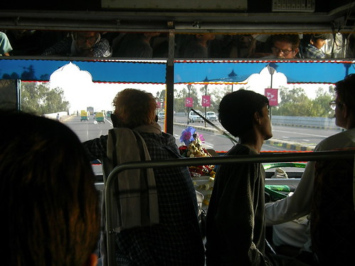 Bus trip in Delhi