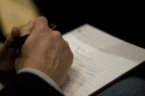 Taking notes by @boetter, on Flickr