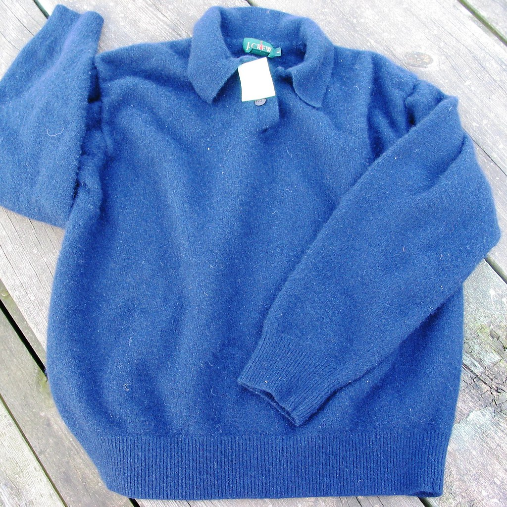 Navy polo cashmere sweater