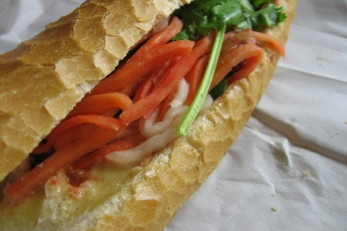 banh mi (with meatballs)