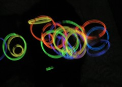 glow stick art