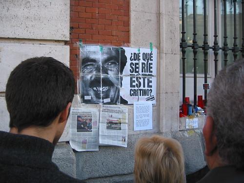 14 de marzo de 2004 en la Puerta del Sol