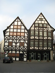 timbered houses in Erfurt Germany
