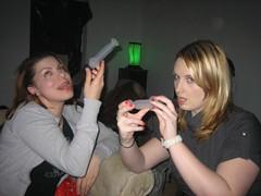 20070113 - Clint's 33rd birthday party - Meagan & Angel enjoy jello shots - (by Glen) - 356966549_c5d5fe7f24_o