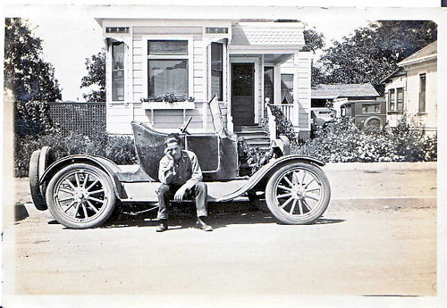 Grampa on the Ford