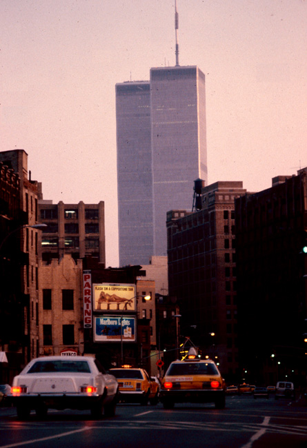 View south down 8th Avenue, New York, July 1980.