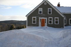 Snowy House front