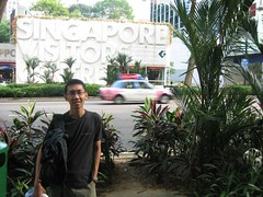 In front of Singapore Visitors Center @ Orchard Rd