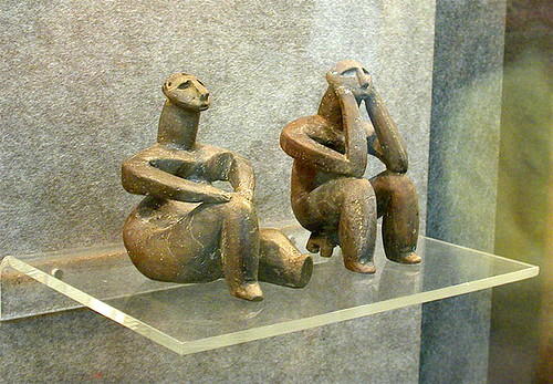 "The ""Thinker"" & the ""Seated Woman"" - Masterpieces of Neolithic Art by londonconstant."