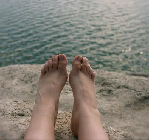 naked feet.