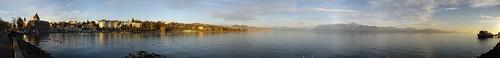Foto panorámica de el lago Léman