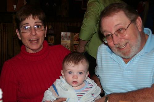 Grandma, Grandpa and me.