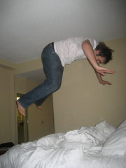 Hotel bed jumping FTW!!!