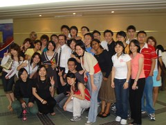 Group pix with Dr Hayball and Miss Loo Yih