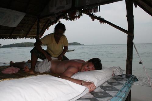masajes junto al mar