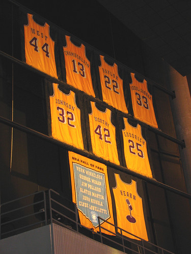 The only announcer I know with a retired jersey in his honor