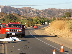 Victim in the roadway