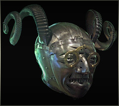The horned helmet of Henry VIII