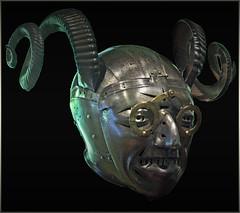 The horned helmet of Henry VIII