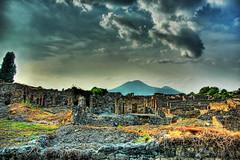 The Ruins of Pompeii and Mount Vesuvius