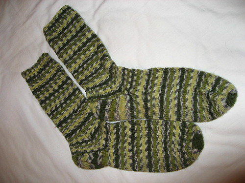 Green Jacquard socks
