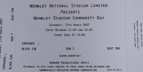 Wembley Stadium Community Day Ticket