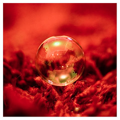 Red Soap Bubble