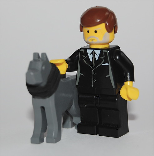 David Blunkett with guide dog Ruby... in lego